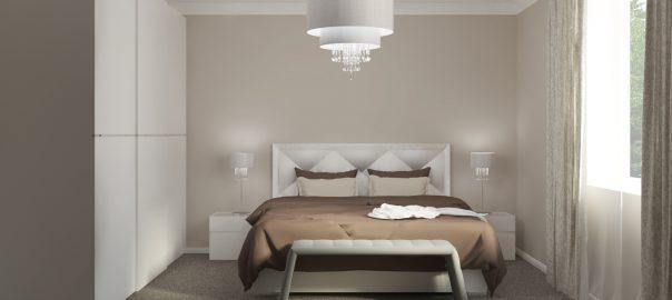 Moderná spálňa so skriňou s posuvnými dverami TOMASELLA