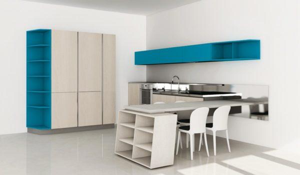 Moderná bielo-čierna asymetrická kuchyňa ASIA je jedinečná svojimi kombináciami asymetrických tvarov.Talianska kuchyňa ASIA je vyrábaná na mieru.