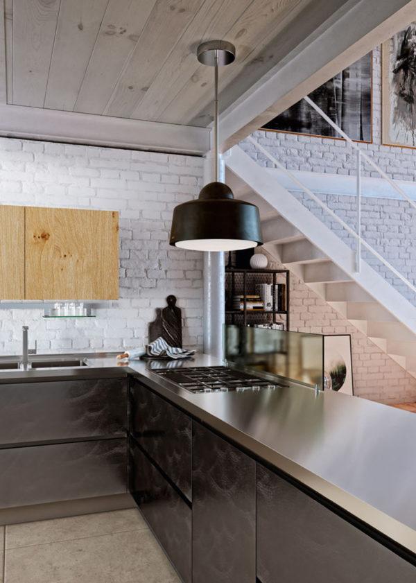 ktoré spájajú unikátny dubový materiál s avantgardnými materiálmi.Nadčasový dizajn talianskej kuchyne DOLCE VITA.