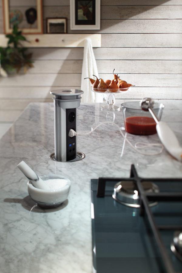 Úložný systém zásuvky kuchyne ELITE. Variabilný úložný priestor.