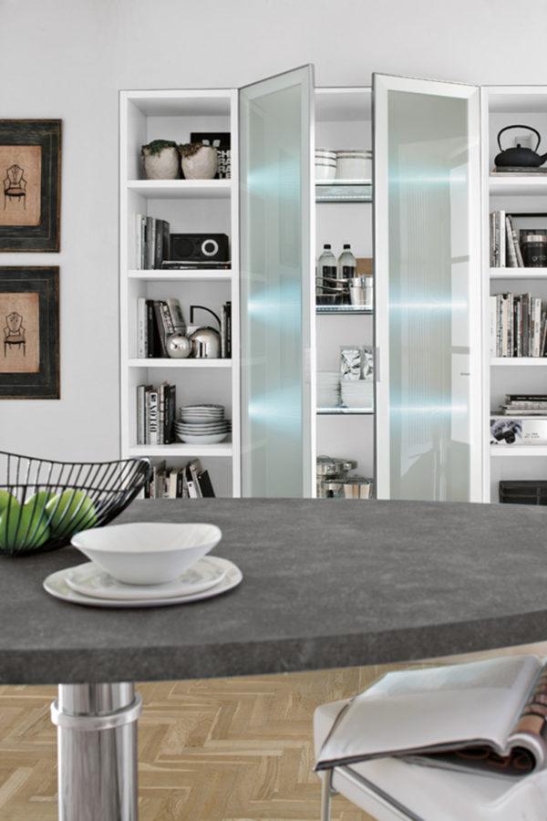 Detail kuchynskej linky KRISTAL.Talianska kuchyňa KRISTAL je vyrábaná na mieru.