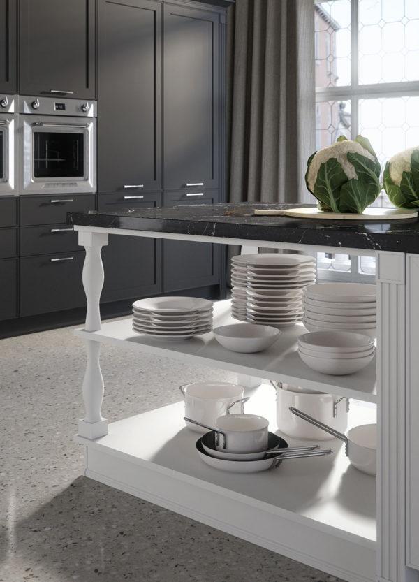 Detail farebného kontrastu kuchyne MONTECARLO.