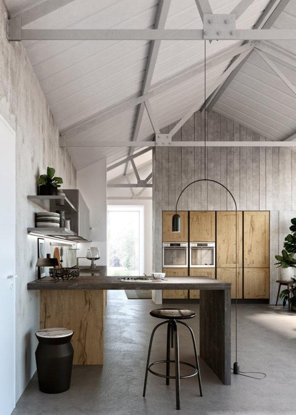 Moderná dizajnová kuchyňa TIME. Vnútorné praktické úložné riešenia.Talianska kuchyňa TIME je vyrábaná na mieru.