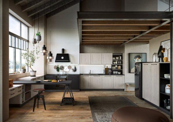 Moderná dizajnová kuchyňa TIME. Talianska kuchyňa TIME je vyrábaná na mieru.