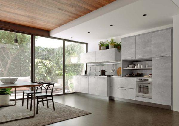 Dizajnová moderná šedá matná kuchyská linka TIME. Talianska kuchyňa TIME je vyrábaná na mieru.