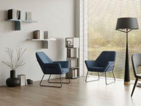 Dizajnové podlahové svietidlo vyrobené z kovu OXONIA.