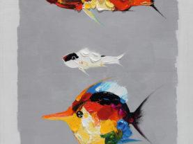 Ručne maľovaný obraz rýb