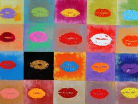 Ručne maľovaný moderný obraz