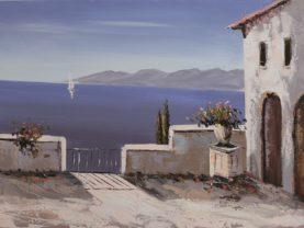 Ručne maľovaný obraz krajinomaľby