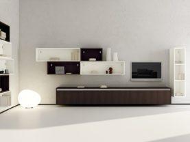 Moderné riešenie prepojenia obývacej izby s kuchyňou.