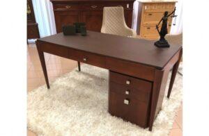 Pracovný stôl s kožou