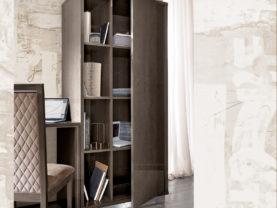 Moderná lesklá knižnica PLATINUM