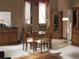 Jedálenský stôl s rozťahovaním BERNA art. 2085/90 / 90(170) x 90 v. 79 cm