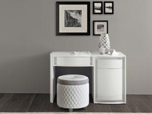 Toaletný stolík so zásuvkami VANITY s prešívaním alebo bez prešívania / priem.50 v.46 cm/