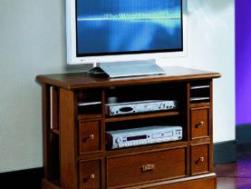 TV skrinka BERNA art. 2064 / š.92 hl.43 v.66 cm/ - v prevedení Hnedý orech NA
