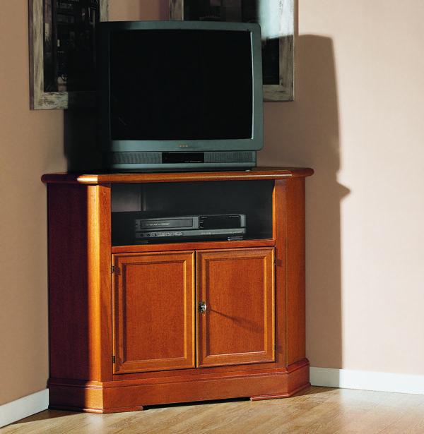 Rohová TV skrinka BERNA art. 2073 / 72 x 72 v.81 cm/