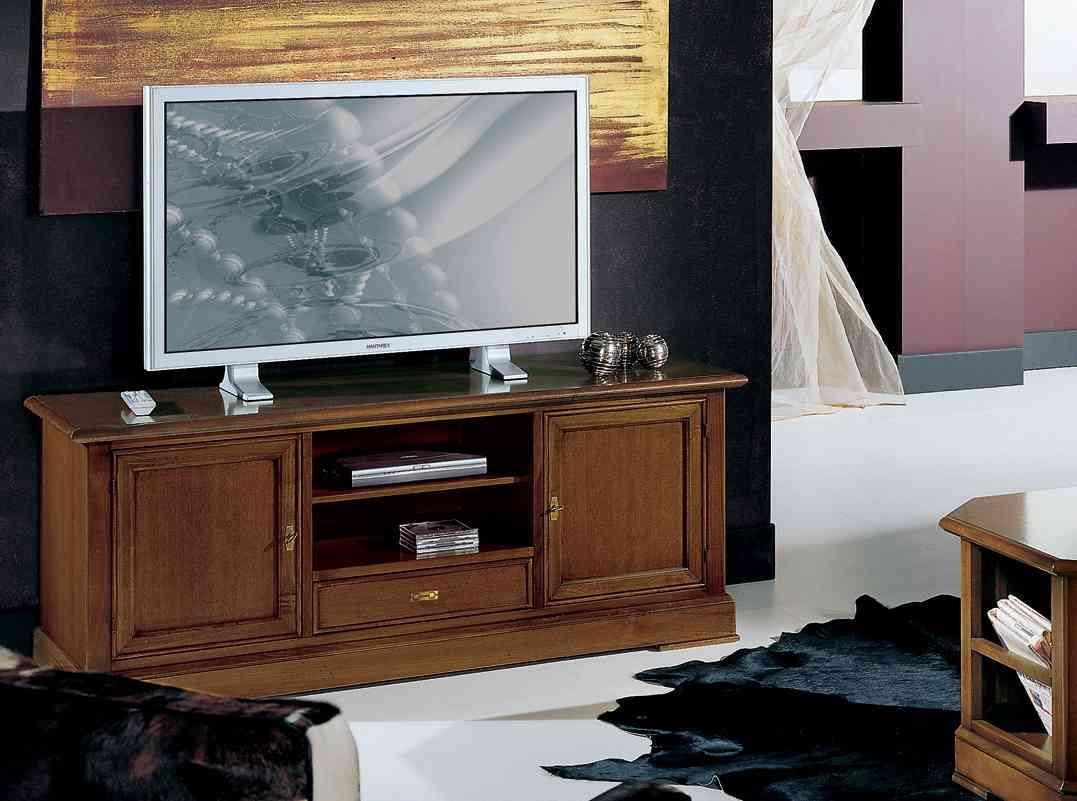 Rustikálna drevená TV skrinka