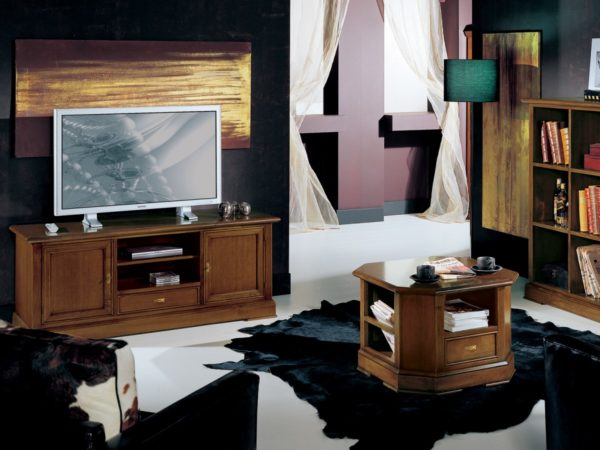 TV skrinka BERNA art. 2106 / š.152 hl.52 v.62 cm/ - v prevedení Hnedý orech NA