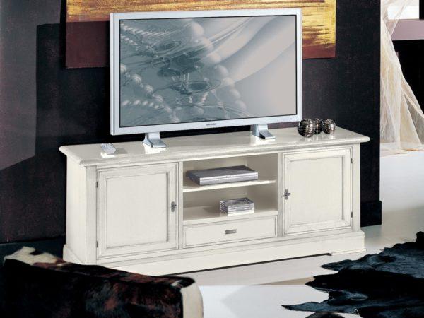 TV skrinka BERNA art. 2106 / š.152 hl.52 v.62 cm/ - v prevedení Biela s patinou LBA