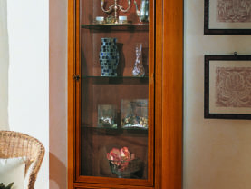Vitrína 1 dverová BERNA art. 2095/B / š.72 hl.41 v.187 cm/