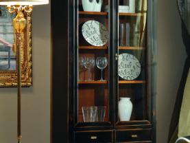 Vitrína 2 dverová BERNA art. 2096/B / š.100 hl.41 v.188 cm/
