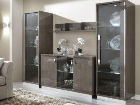 Jednodverová vitrína PLATINUM /š.62 hl.48 v.190 cm/