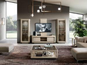 Moderná obývačka v krémovej farbe