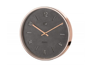 čierne hodiny s kovovým rámom
