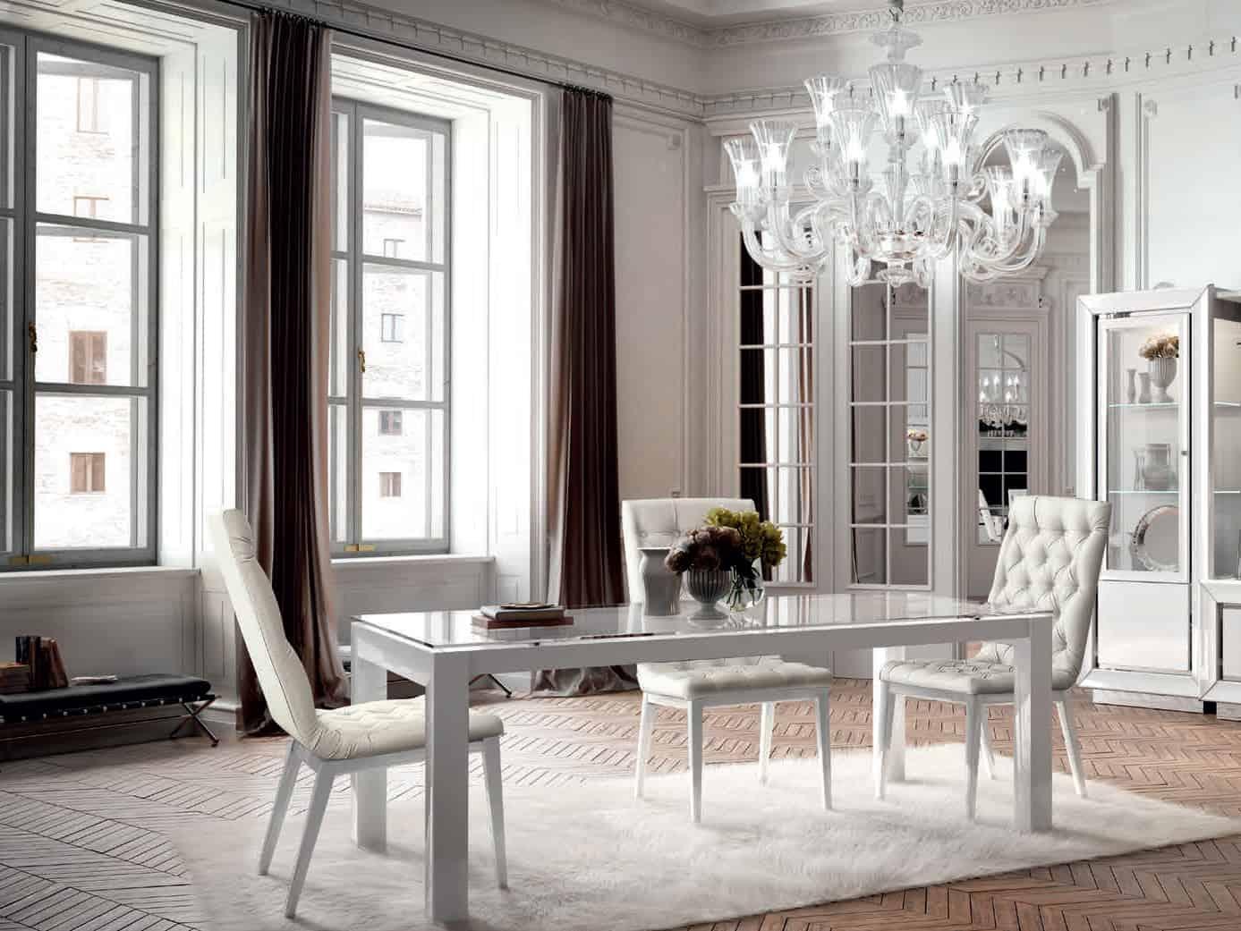 Dizajnový jedálenský stôl s rozťahovaním