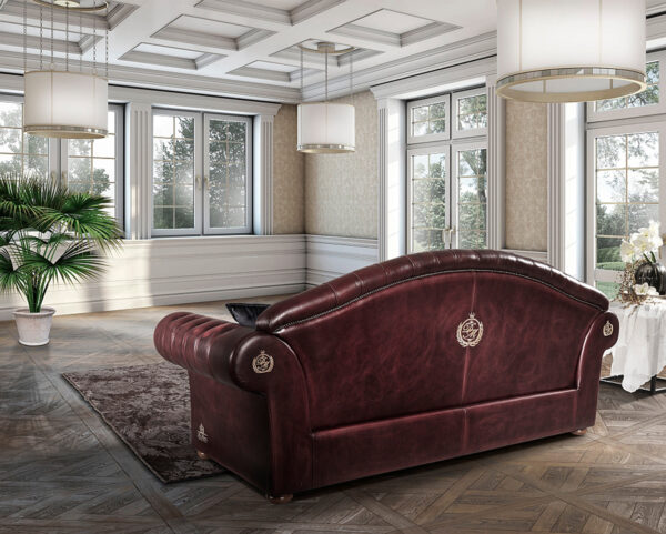 rustikálna sedačka s gombíkmi