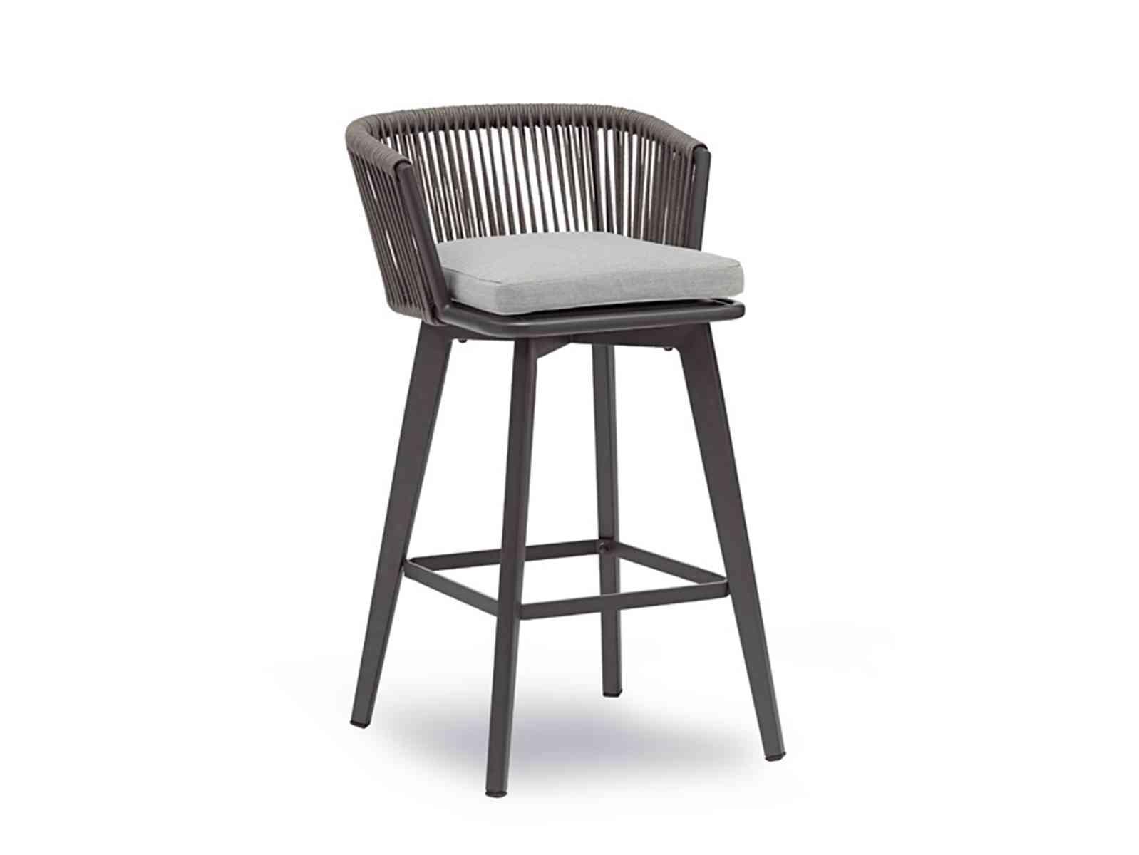 beoutdoor šedá barová stolička