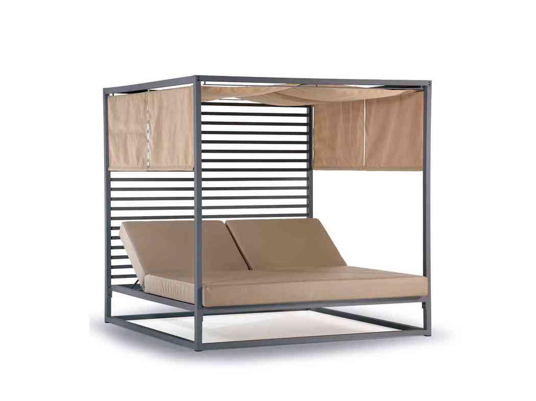 záhradná posteľ s prestrešením