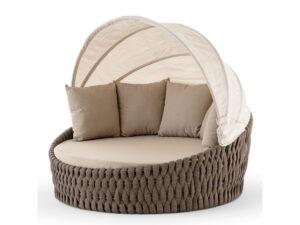 outdoor okrúhla posteľ