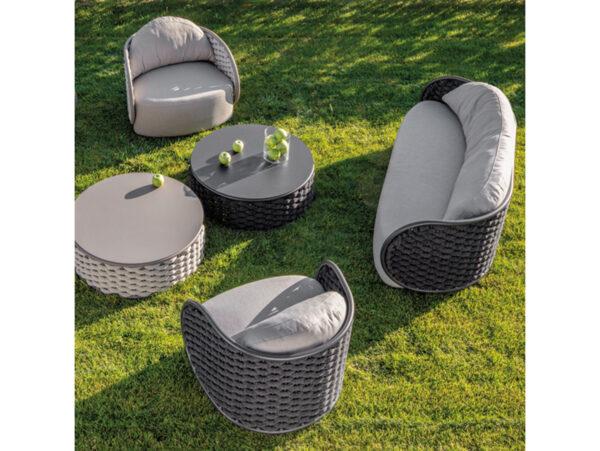 oblý dizajnový záhradný nábytok