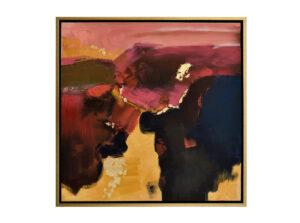 Moderný abstraktný obraz v zlatom ráme