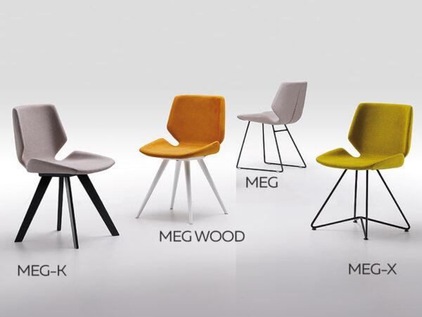 Dizajnová jedálenská stolička MEG